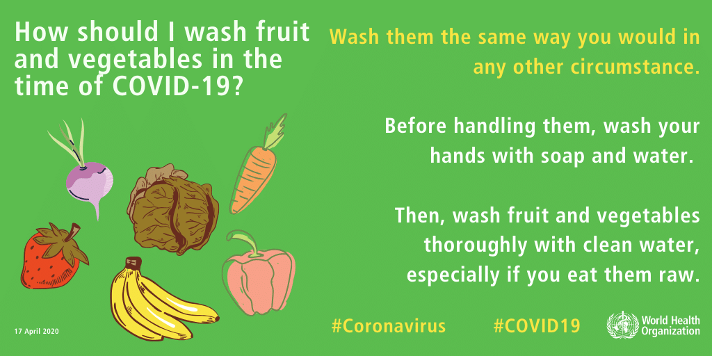 Kitchen hygiene during COVID-19: Washing Vegetables