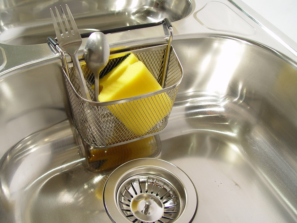 Happy New Year Plumbing Tips: A photo of a sink strainer